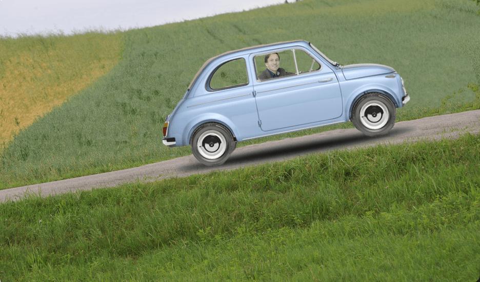 Fiat de berg op